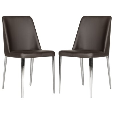 Drummaul Upholstered Dining Chair Color: Brown