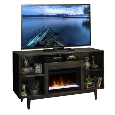 Furniture-Linden TV Stand with Electric Fireplace