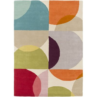 Morgana Hand-Tufted Beige Area Rug Rug Size: 33 x 53