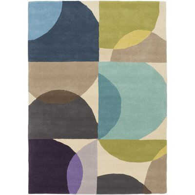Morgana Hand-Tufted Blue Area Rug Rug Size: 33 x 53