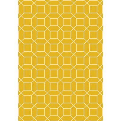 Miles Hand-Knotted Yellow Area Rug Rug Size: Rectangle 6 x 9