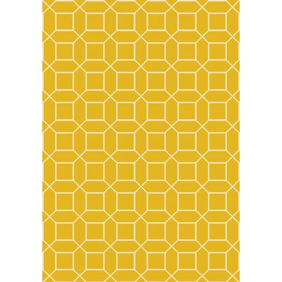 Miles Hand-Knotted Yellow Area Rug Rug Size: 9 x 13