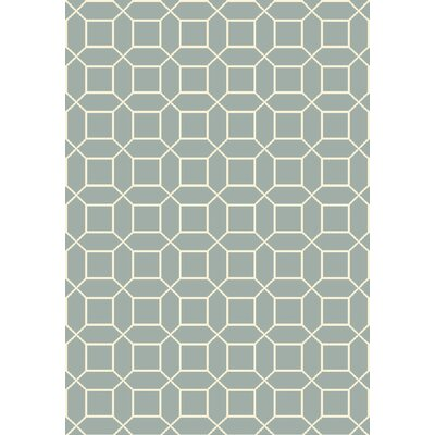 Miles Hand-Knotted Blue Area Rug Rug Size: 4 x 6