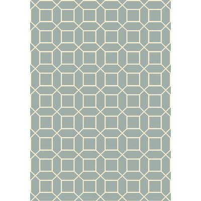 Miles Hand-Knotted Blue Area Rug Rug Size: 6 x 9