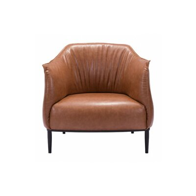 Rasharkin Occasional Barrel Chair Upholstery: Coffee