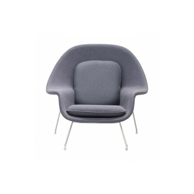 Maxime Lounge Chair and Ottoman Upholstery: Light Gray