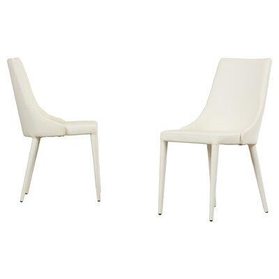 Lebron Side Chair Upholstery: PU+Sponge - White