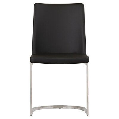 Farranacushog Side Chair Upholstery: PU+Sponge - Black