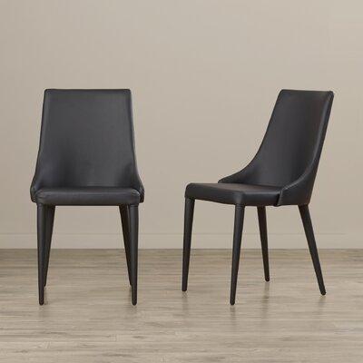 Lebron Side Chair Upholstery: PU+Sponge - Black