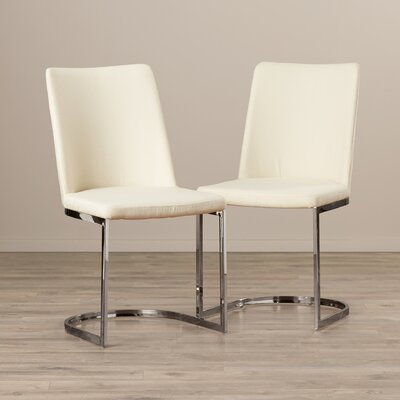 Farranacushog Side Chair Upholstery: Linen - Beige