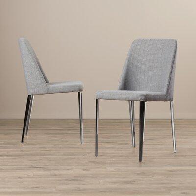 Drummaul Side Chair Upholstery: Linen - Gray