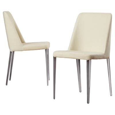 Drummaul Upholstered Dining Chair Color: Buttercream