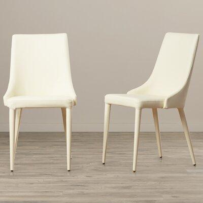 Lebron Side Chair Upholstery: PU+Sponge - Buttercream