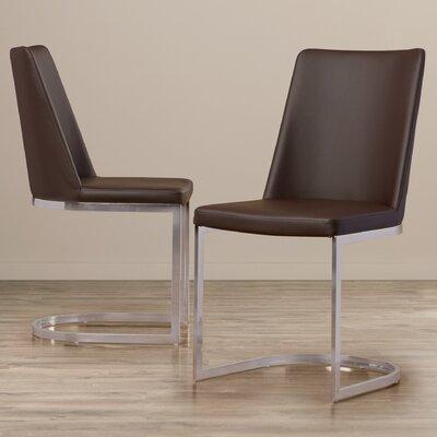 Farranacushog Side Chair Upholstery: PU+Sponge - Brown