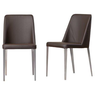 Drummaul Side Chair Upholstery: PU+Sponge - Brown