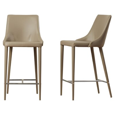 Lebron 26 Bar Stool Upholstery: Taupe