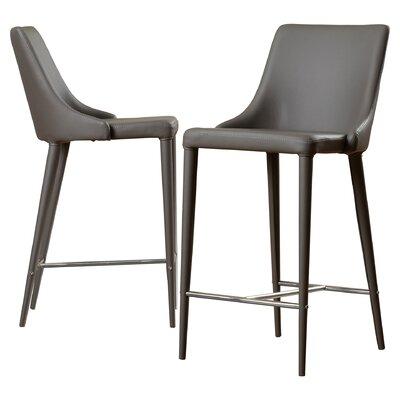 Lebron 26 Bar Stool Upholstery: Gray