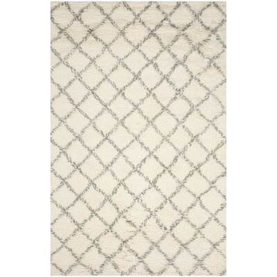 Friary Hand-Woven Ivory/Grey Area Rug Rug Size: 9 x 12