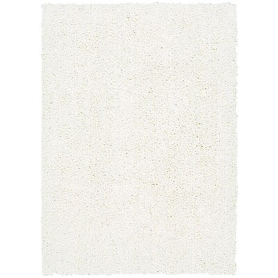Carnlough North Hand-Woven White Area Rug Rug Size: 76 x 96