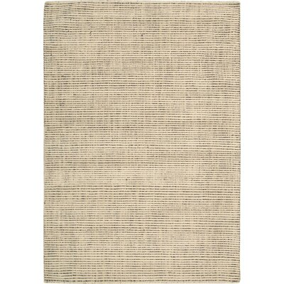 Spartacus Hand-Woven Beige Area Rug Rug Size: 53 x 75