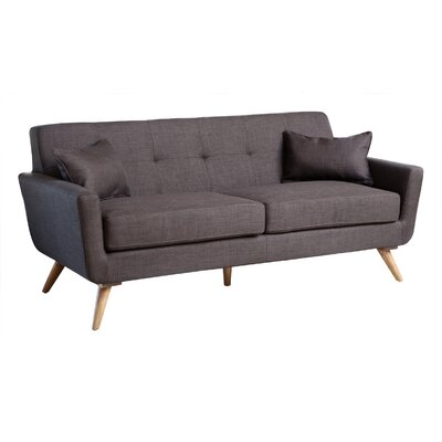 Fresco Tufted Sofa Upholstery: Grey