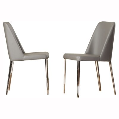 Drummaul Upholstered Dining Chair Color: Gray