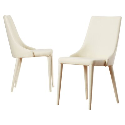 Sherwood Upholstered Dining Chair Color: Beige
