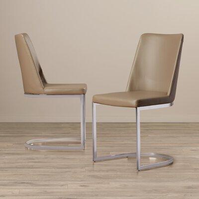 Farranacushog Side Chair Upholstery: PU+Sponge - Taupe
