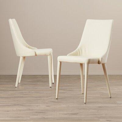 Lebron Side Chair Upholstery: Cloth+Sponge - Linen Beige