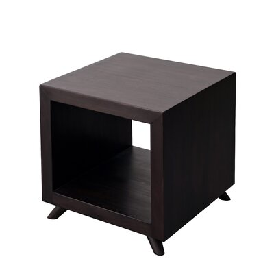 Poppy Cubic End Table Color: Espresso Rustic