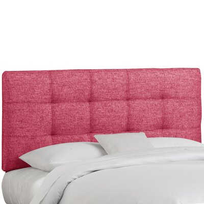 Emerson Tufted Upholstered Panel Headboard Size: Twin, Color: Groupie Azalea