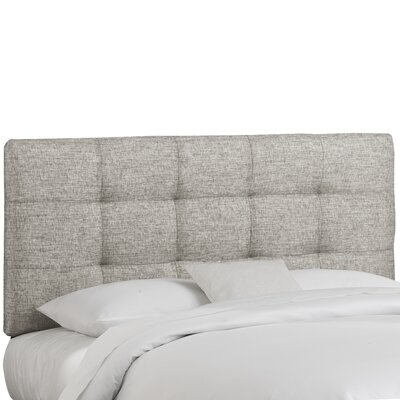 Emerson Tufted Upholstered Panel Headboard Size: King, Finish: Groupie Pewter