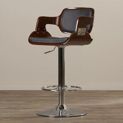 Adjustable Height Swivel Bar Stool Upholstery: Cherry/Black