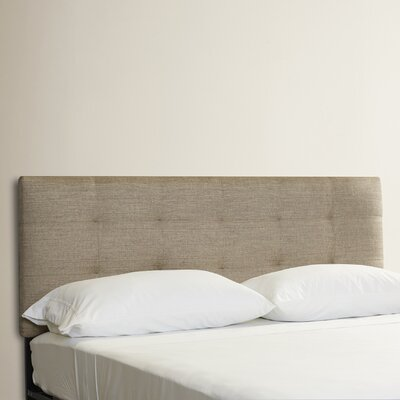 Emerson Tufted Upholstered Panel Headboard Size: Twin, Color: Groupie Gunmetal