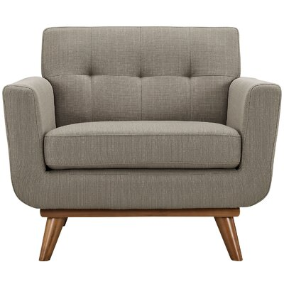 Johnston Armchair Upholstery: Light Brown