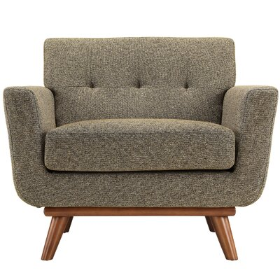 Johnston Armchair Upholstery: Oatmeal Tweed