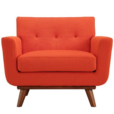 Johnston Armchair Upholstery: Atomic Red