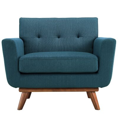 Saginaw Arm Chair Upholstery: Azure