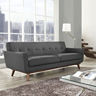 Johnston Upholstered Sofa Upholstery: Gray