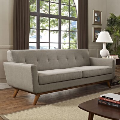 Johnston Upholstered Sofa Upholstery: Granite