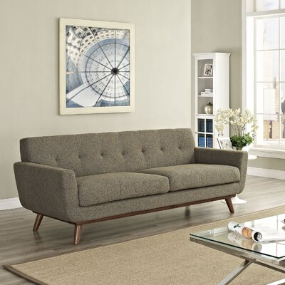 Johnston Upholstered Sofa Upholstery: Oatmeal Tweed