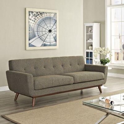 Johnston Upholstered Sofa Upholstery: Oatmeal Tweed