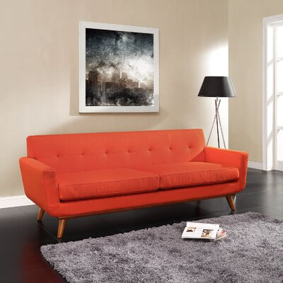 Johnston Upholstered Sofa Upholstery: Atomic Red