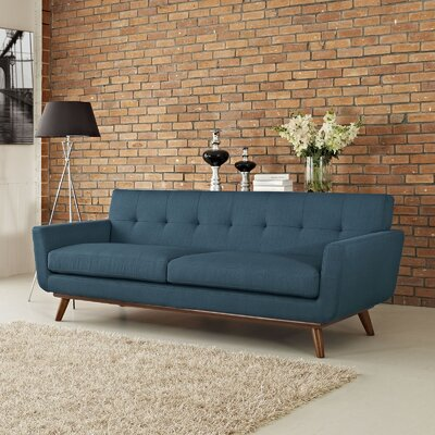Johnston Upholstered Sofa Upholstery: Azure Blue