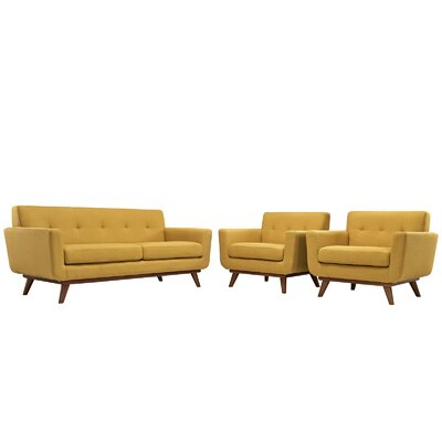Saginaw 3 Piece Living Room Set Upholstery: Citrus
