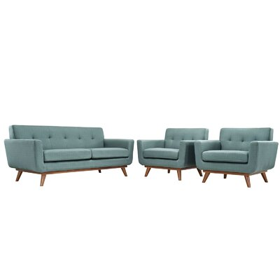 Saginaw 3 Piece Living Room Set Upholstery: Laguna