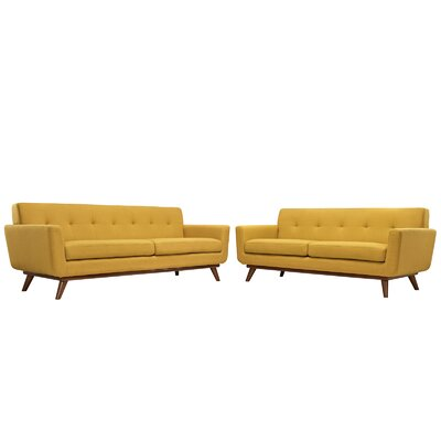 Saginaw Loveseat and Sofa Set Upholstery: Citrus