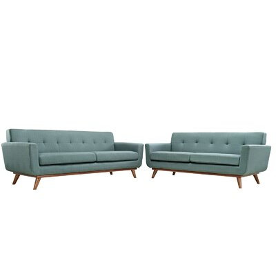 Saginaw Loveseat and Sofa Set Upholstery: Laguna