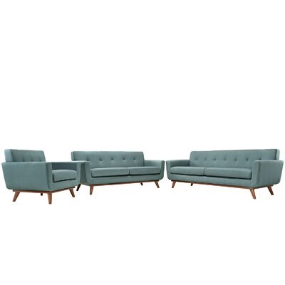 Saginaw 3 Piece Living Room Set Upholstery: Laguna