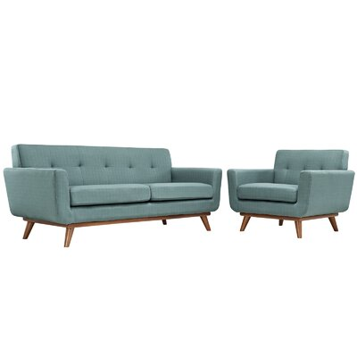 Saginaw Arm Chair and Loveseat Set Upholstery: Laguna